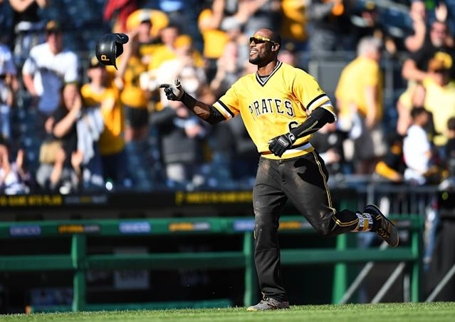 Starling Marte was suspended Tuesday for 80 games after testing positive for Nandrolone. (Getty Images)