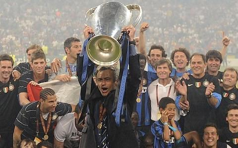 <span>Mourinho delivered Inter their first European Cup in 45 years in the astonishing treble season of 2010</span> <span>Credit: AFP </span>
