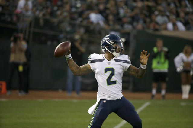 "Police in Texas are investigating <a class=""link rapid-noclick-resp"" href=""/nfl/teams/sea"" data-ylk=""slk:Seattle Seahawks"">Seattle Seahawks</a> backup QB <a class=""link rapid-noclick-resp"" href=""/nfl/players/29812/"" data-ylk=""slk:Trevone Boykin"">Trevone Boykin</a> after allegedly attacking his girlfriend last week. (AP)"