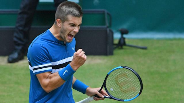 Borna Coric had only won two matches on grass when he arrived in Halle, but he dethroned Roger Federer on Sunday.