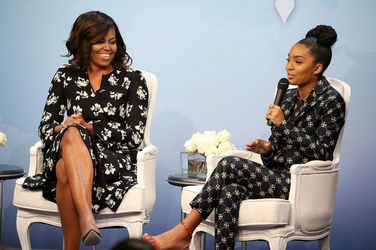 Michelle Obama with Yara Shahidi at