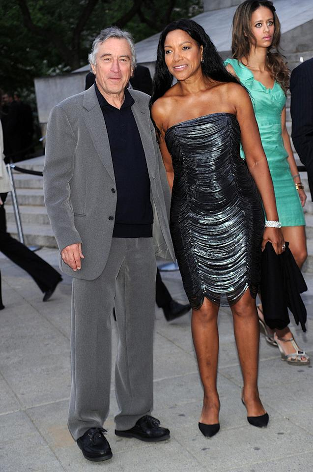 """<a href=""""http://movies.yahoo.com/movie/contributor/1800010759"""">Robert DeNiro</a> and Grace Hightower at the 9th Annual Tribeca Film Festival Vanity Fair party in New York City on April 20, 2010."""