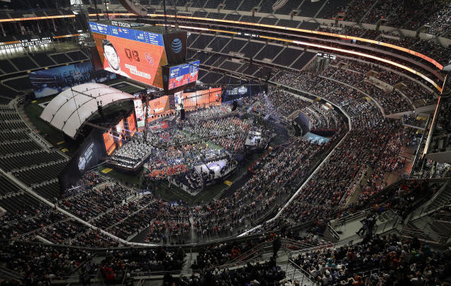Dallas hosted the 2018 NFL draft, largely viewed as a success and following in the footsteps of other host cities: Philadelphia and Chicago. (AP Photo/David J. Phillip, File)