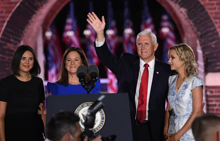Mike Pence secretly attended daughter Audrey's wedding two days before election. (AFP via Getty Images)
