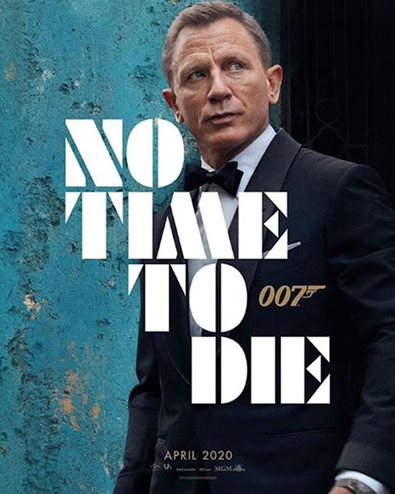 The first official poster for the new James Bond film, No Time Time To Die, featuring star Daniel Craig. (PA)