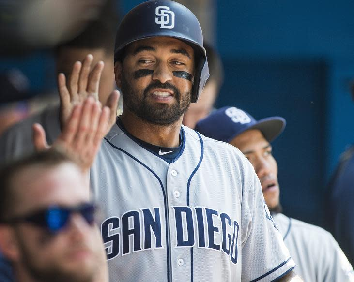 Matt Kemp is headed to the Braves in a swap for infielder Hector Olivera. (AP)