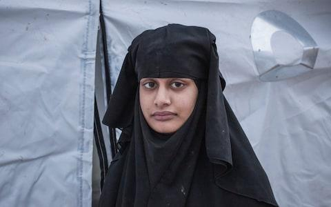 <span>British Isil member Shamima Begum stands is being held by the SDF in a detention camp in Syria</span> <span>Credit: Sam Tarling for The Telegraph </span>