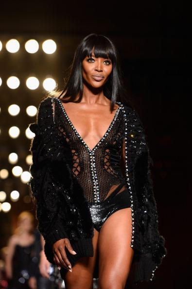 """<div class=""""caption-credit"""">Photo by: Pascal Le Segretain/Getty Images</div>This is not lingerie, it's Versace. And that's not any runway model, it's Naomi Campbell. If you think this outfit looks tame compared with the past slides, consider the fact that the whole thing is held together by hooks and Swarovski crystals and, according to <a href=""""http://www.google.com/hostednews/afp/article/ALeqM5jW6JNSUzCVFUlGihancYnYtDNjQw?docId=CNG.bf410fd2b50b272b32ae2b68b217fcea.621"""" rel=""""nofollow noopener"""" target=""""_blank"""" data-ylk=""""slk:the designer"""" class=""""link rapid-noclick-resp"""">the designer</a>, """"left undone in places giving the impression of being undressed."""" Right, the impression. <br>"""
