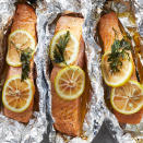<p>We're willing to bet that this easy grilled salmon in foil recipe will become a regular in your weeknight dinner rotation. Cooking fish in foil keeps it super-moist, plus you don't have to worry about the fish sticking to the grill. Butter, lemon pepper and fresh parsley perk up the flavors for this versatile main course. Cook some vegetables, such as asparagus, zucchini and corn, alongside the fish packets for a healthy dinner that's ready in less than 30 minutes.</p>