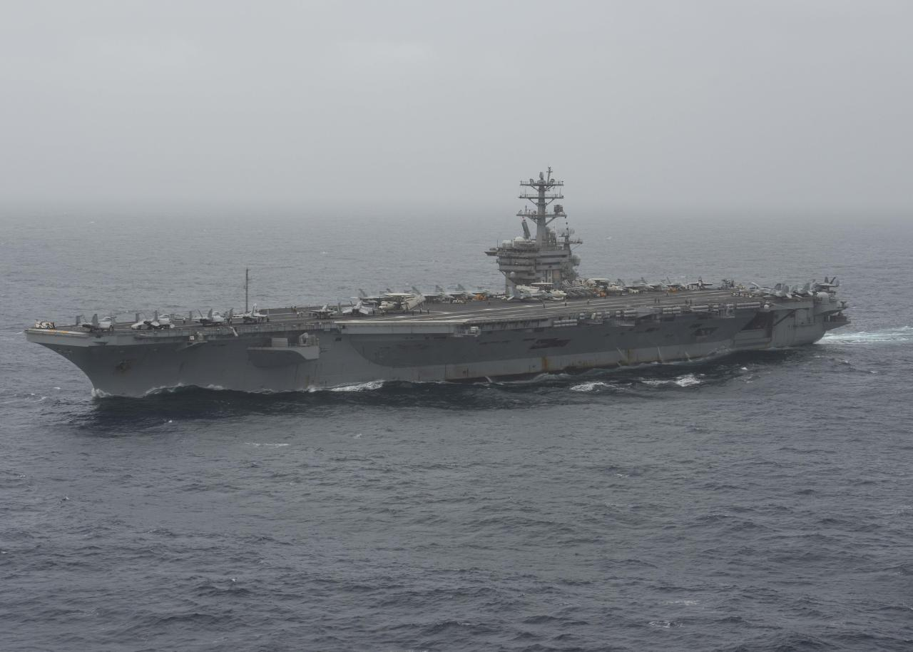 US carrier transits Strait of Hormuz amid tensions with Iran