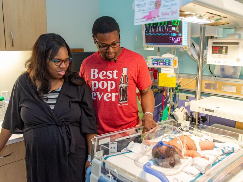 Christina Brown was born on the anniversary of the 9/11 attacks at 9:11pm weighing 9lb 11oz: Bronson Worthy