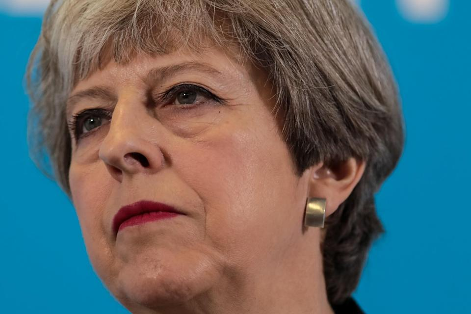 Theresa May unveiled her party's social care policies yesterday (Getty)