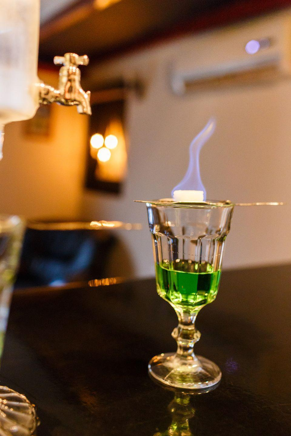<p>This powerful elixir used to be banned in the United States, but it's made a comeback in recent years, and is particularly great in a low-carb cocktail. Mix it with soda, or sip a little on its own.</p>