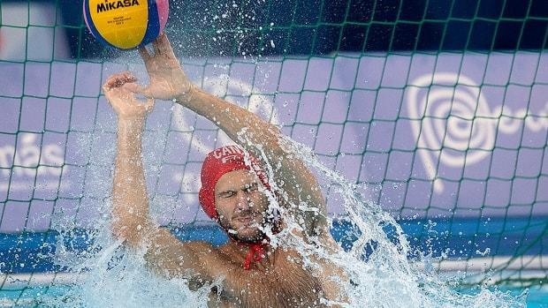 Canada's goalkeeper Milan Radenovic was lit up early on Tuesday, surrendering three first-period goals in a 14-11 loss to Georgia in a preliminary-round match at the men's water polo Olympic qualification tournament in Rotterdam, Netherlands.