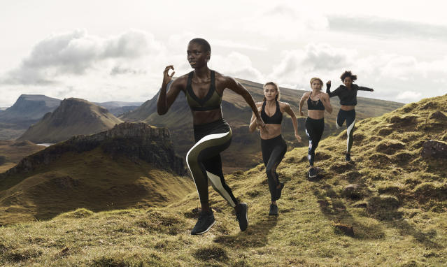 Models show off activewear from H&M Conscious Sport Collection. (Photo: courtesy of H&M)