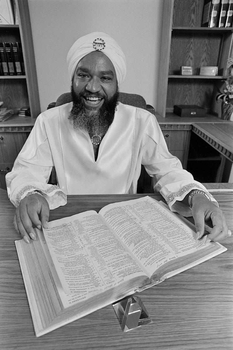"Symonette has said he started following Yahweh ben Yahweh (pictured), after the cult leader came up to him and declared ""all white people are the Devil."" (Bettmann via Getty Images)"