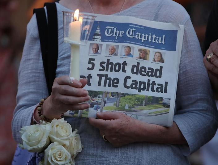 Some critics of Donald Trump say his demonizing of the media may have created a climate of hostility that led to violence, such as shootings in Annapolis, Maryland (AFP Photo/MARK WILSON)