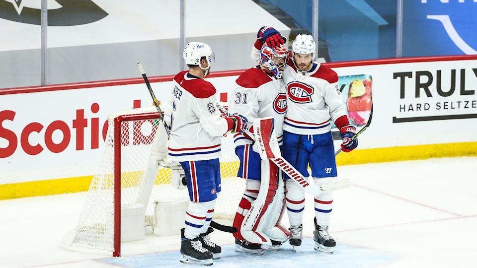 Montreal Canadiens goaltender Carey Price has returned to world-class form during the Stanley Cup Playoffs. (Terrence Lee/Icon Sportswire via Getty Images)