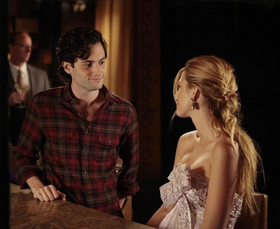 "<h1 class=""title"">GOSSIP GIRL, l-r: Penn Badgley, Blake Lively in 'Riding in Town Cars With Boys' (Season 5, Episode 1</h1><cite class=""credit"">©CW Network/Courtesy Everett Collection</cite>"