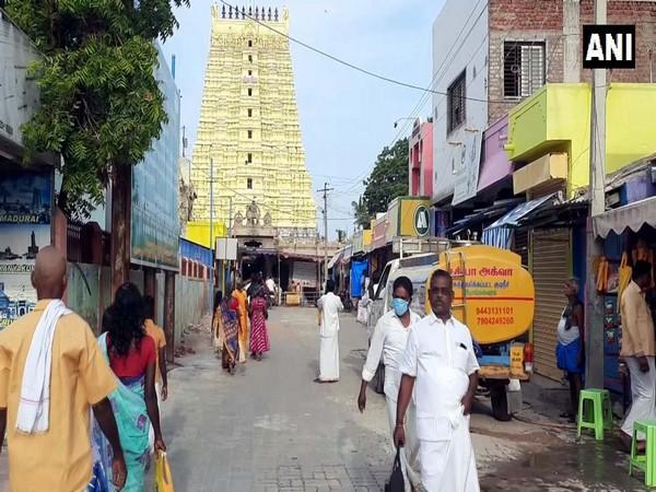 Ramanathaswamy temple in Rameshwaram was opened for worship on Tuesday
