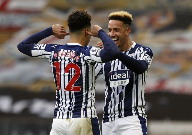 There was minimal contact between the West Brom players as they secured a huge win over local rivals Wolves.