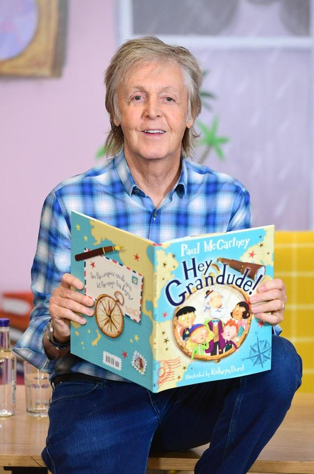 Paul McCartney during a signing session for his new book, Hey Grandude!