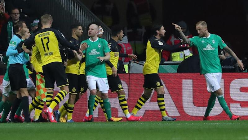 Tensions were high as Werder Bremen and Borrussia Dortmund clashed in the German Cup