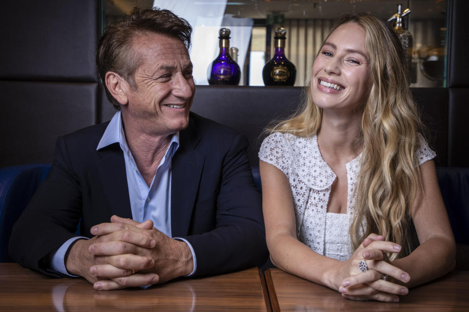 FILE - In this July 10, 2021 file photo Sean Penn and Dylan Frances Penn poses for portrait photographs for the film 'Flag Day', at the 74th international film festival, Cannes, southern France. (Photo by Vianney Le Caer/Invision/AP, File)
