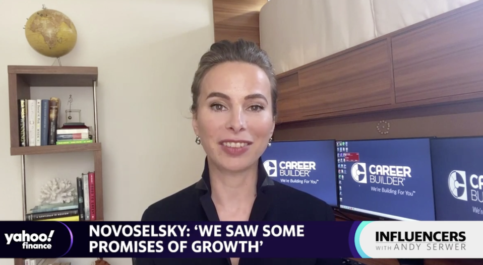 """CareerBuilder CEO Irina Novoselsky speaks with Yahoo Finance Editor-in-Chief Andy Serwer on an episode of """"Influencers with Andy Serwer."""""""