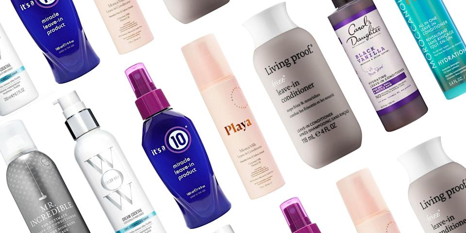 """<p class=""""body-dropcap"""">You've probably heard about how helpful leave-in conditioners can be for every hair type, but it's time to actually pick one up—and use it routinely—if you've been putting off the extra work. """"It's much easier to keep your hair in good condition than to repair it once the damage is already done,"""" says celebrity hairstylist Rob Talty, who works with Christina Aguilera. And that's exactly what leave-in conditioner does: By regularly <a href=""""https://www.harpersbazaar.com/beauty/hair/g29657328/best-shampoo-for-dry-hair/"""" rel=""""nofollow noopener"""" target=""""_blank"""" data-ylk=""""slk:adding moisture to your hair"""" class=""""link rapid-noclick-resp"""">adding moisture to your hair</a>, it doesn't have a chance to dry out, snap, and fray. """"But you have to use the right formula,"""" he says. """"Otherwise you're just weighing the hair down."""" Read on for 23 of the best leave-in conditioner formulas, no matter your hair type or concern.<br></p>"""
