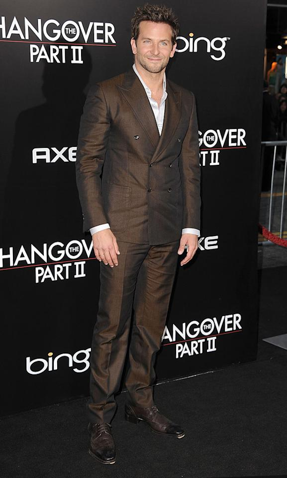 """<a href=""""http://movies.yahoo.com/movie/contributor/1804751131"""">Bradley Cooper</a> attends the Los Angeles premiere of <a href=""""http://movies.yahoo.com/movie/1810187722/info"""">The Hangover Part II</a> on May 19, 2011."""
