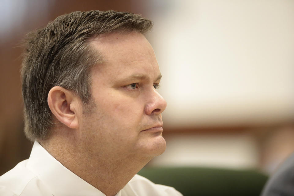 Chad Daybell pictured at his preliminary hearing in August.