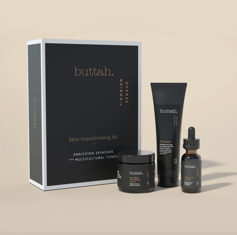 "<p>buttahskin.com</p><p><strong>$59.99</strong></p><p><a href=""https://www.buttahskin.com/collections/the-buttah-skin-collection/products/buttah-complete-skin-kit?variant=32282300252209"" rel=""nofollow noopener"" target=""_blank"" data-ylk=""slk:Shop Now"" class=""link rapid-noclick-resp"">Shop Now</a></p><p>Does your boss constantly talk about their self-care routine? If they're veeery into skincare, try wrapping up this fancy set for their smoothest complexion yet. </p>"