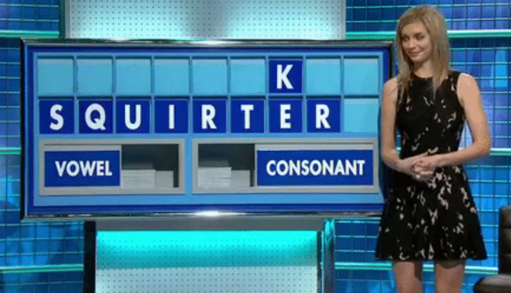 <p>Rachel Riley's reaction to this innocent word 'squirter' in this grainy screenshot left viewers in stitches. The star couldn't hide her grin. What are you thinking of Rachel, water guns?</p>