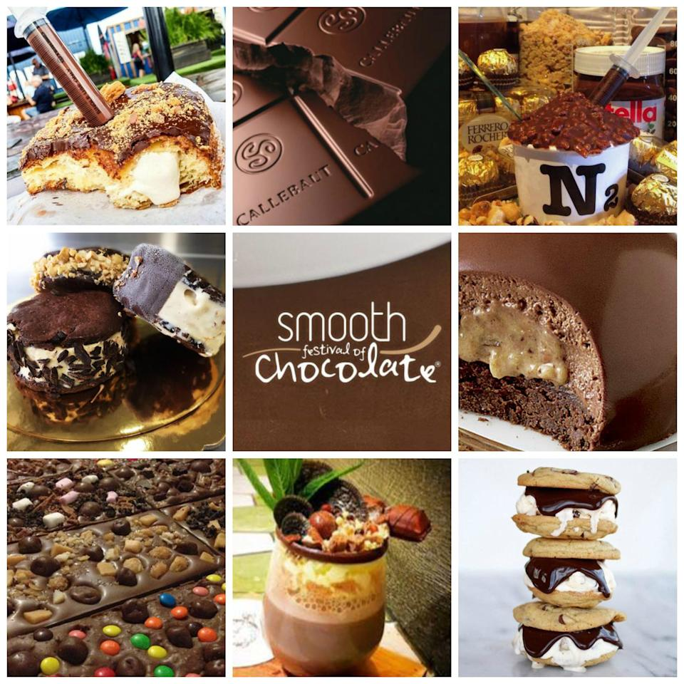 "<p>Chocoholics prepare yourselves, because the Smooth Festival of Chocolate is on its way.<br />Think chocolate donuts, milkshakes, chocolate fountains and everything and anything covered in chocolatey goodness.<br />There will be cooking demonstrations and even a Lindt lounge where you can try their new waffles on a stick.<br />It takes place on Saturday 1st and Sunday 2nd of September at the Sydney Showground, Sydney Olympic Park. More information on their <a rel=""nofollow"" href=""http://smoothfestivalofchocolate.com.au"">website</a>. Source: Nova </p>"