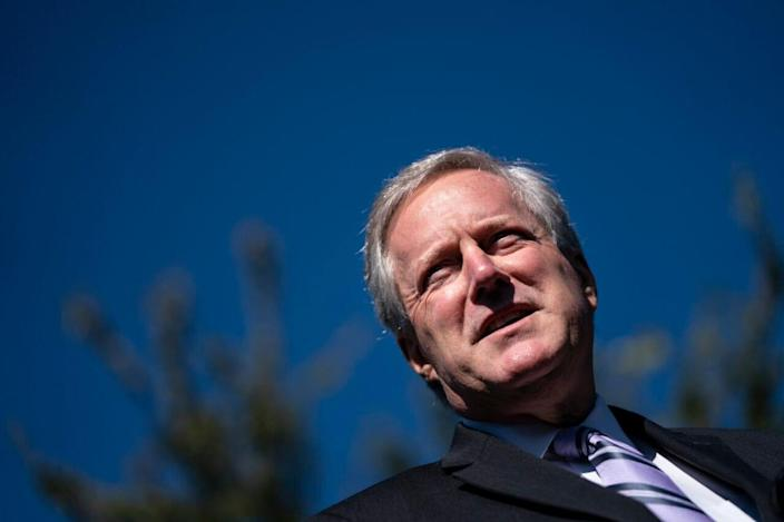 White House Chief of Staff Mark Meadows speaks to reporters about President Trump's positive coronavirus test outside the West Wing of the White House on October 2, 2020 in Washington, DC. (Photo by Drew Angerer/Getty Images)