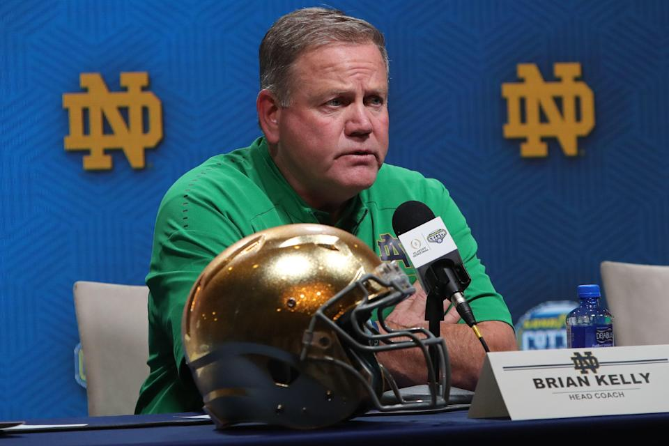 Brian Kelly has led Notre Dame to a 22-4 record the past two seasons. (Getty Images)