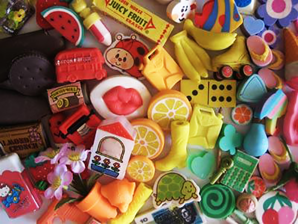 <p>Back when kids regularly used pencils at school, erasers were an obvious must-have. Novelty erasers made this item much more fun, and kids could find erasers in every shape, size, and color imaginable. Now, they're not quite as necessary. </p>