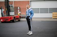 <p>Your sweatshirt and sweatpants have a new best friend! A hoodie looks great with a cropped denim jacket and your favorite track pants. You will look pulled together and not so casual when heading out the door on Sunday morning. </p>