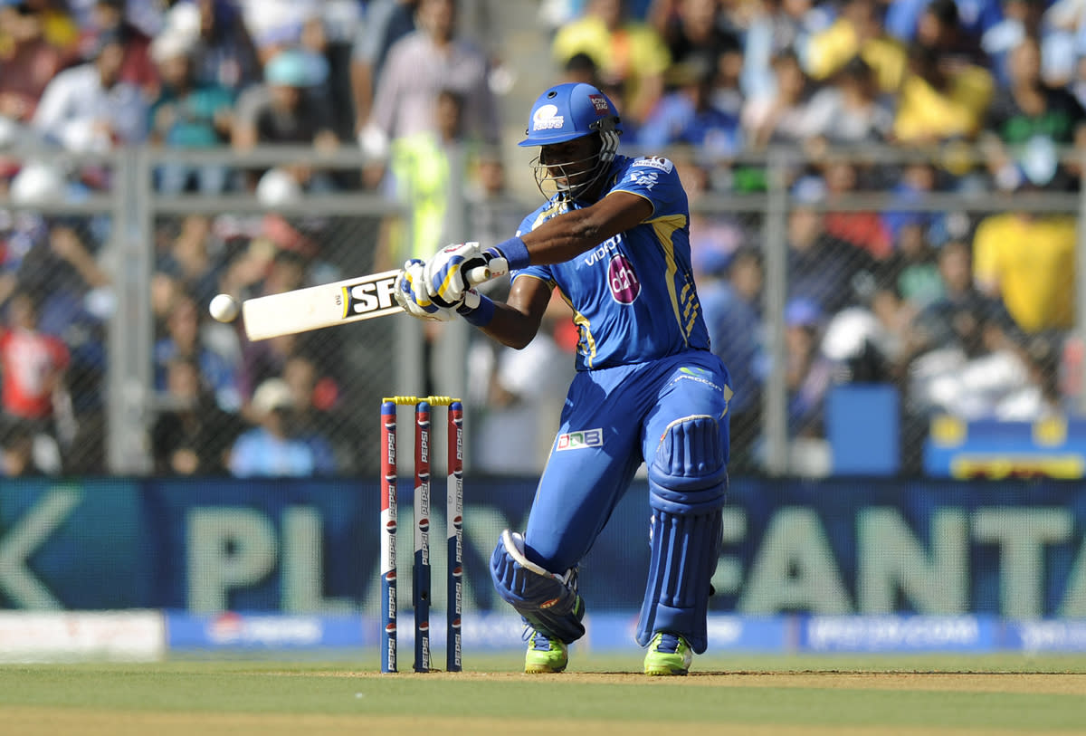 Dwayne smith of Mumbai Indians bats during match 49 of the Pepsi Indian Premier League ( IPL) 2013  between The Mumbai Indians and the Chennai SUperkings held at the Wankhede Stadium in Mumbai on the 5th May 2013 ..Photo by Pal Pillai-IPL-SPORTZPICS  ..Use of this image is subject to the terms and conditions as outlined by the BCCI. These terms can be found by following this link:..https://ec.yimg.com/ec?url=http%3a%2f%2fwww.sportzpics.co.za%2fimage%2fI0000SoRagM2cIEc.&t=1500733878&sig=Dc.sg1nGbqSAK5rKqfCkyQ--~C