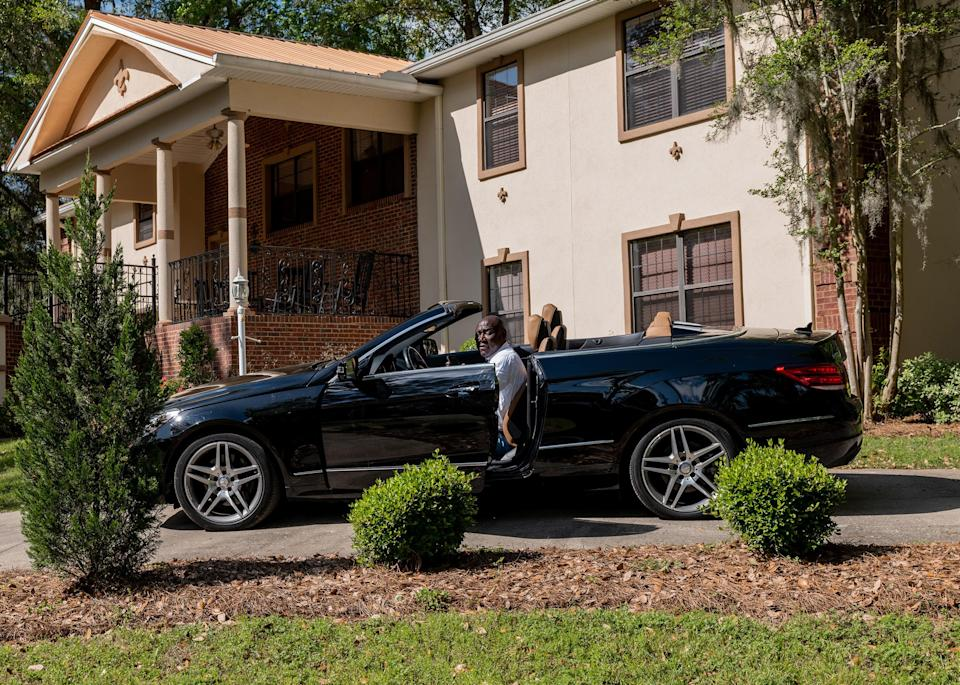 """Crump in his driveway in Tallahassee, Fla., on April 4.<span class=""""copyright"""">Ruddy Roye for TIME</span>"""