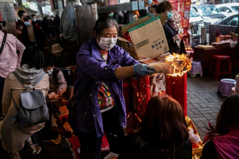 Hong Kongers on both sides of the political divide are using the popular practice to expel their anger (AFP Photo/ISAAC LAWRENCE)
