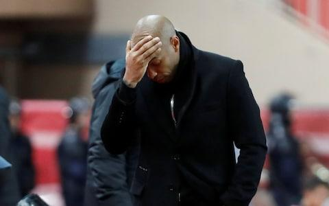 <span>Henry only managed five wins out of his 20 games in charge of Monaco</span> <span>Credit: REUTERS </span>