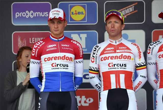 Corendon-Circus' Stijn Devolder (right, with Mathieu van der Poel) will retire at the end of the 2019 season
