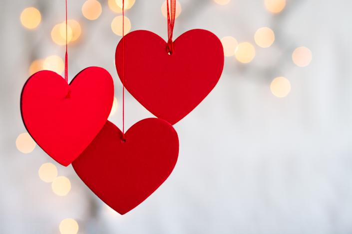 How do you decorate for Valentine's Day? Lots of hearts. (Photo: Getty Images)