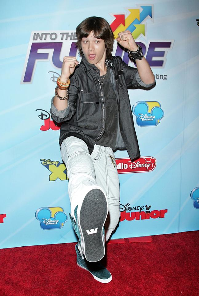"Leo Howard<span class=""st""> (""<a href=""http://tv.yahoo.com/kickin-39-it/show/46464"">Kickin' It</a>"")</span> attends the 2012-13 Disney Channel Worldwide Kids Upfront event at the Hard  Rock Cafe: Times Square on March 13, 2012 in New York City."