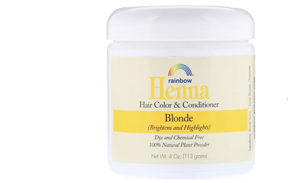 Rainbow Research, Henna, Hair Color and Conditioner, Blonde. (PHOTO: iHerb Singapore)