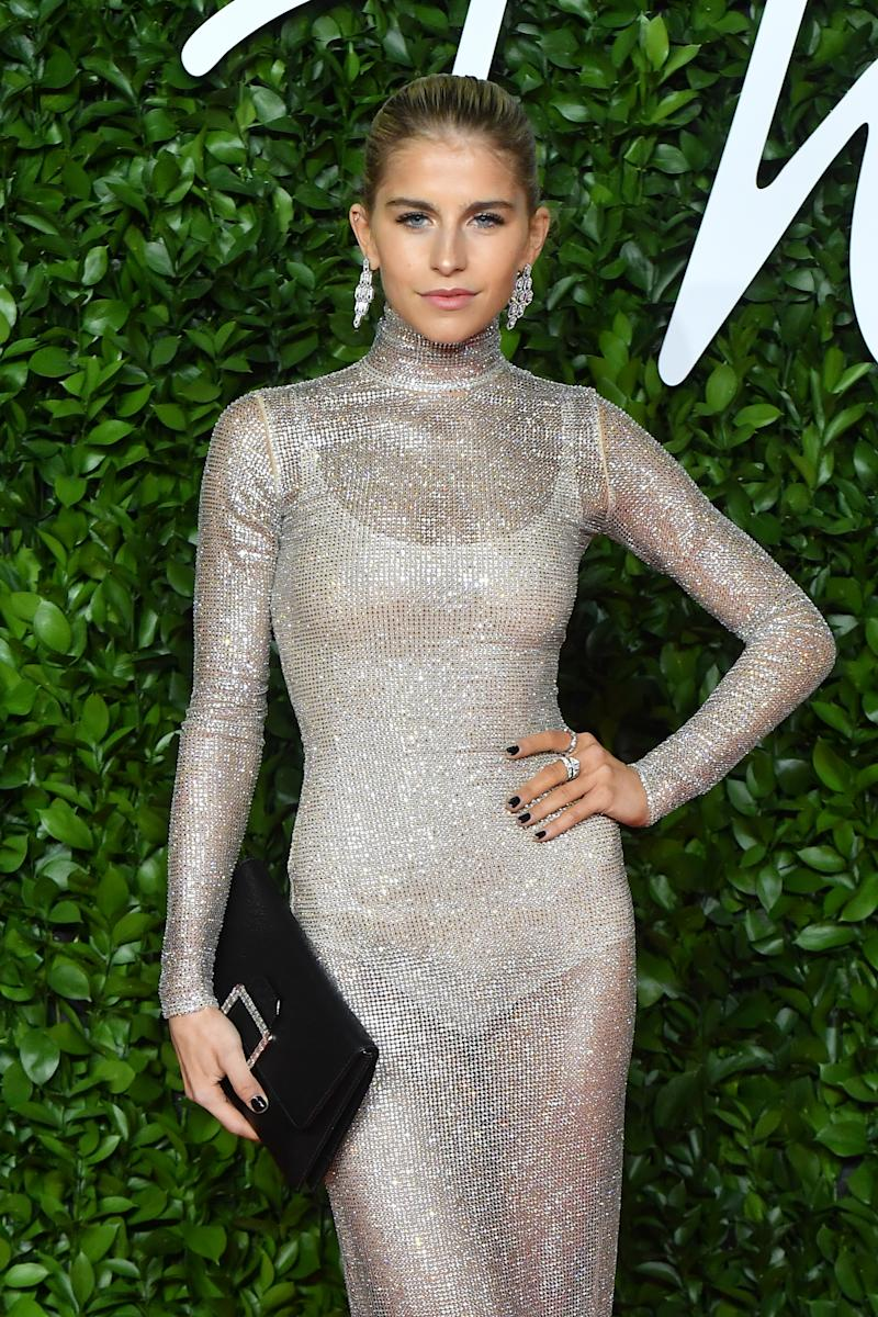 Caroline Daur arrives at The Fashion Awards 2019