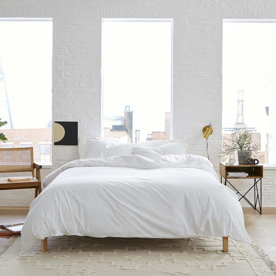 """<p><strong>Brooklinen</strong></p><p>brooklinen.com</p><p><strong>$69.48</strong></p><p><a href=""""https://go.redirectingat.com?id=74968X1596630&url=https%3A%2F%2Fwww.brooklinen.com%2Fproducts%2Fclassic-hardcore-sheet-bundle&sref=https%3A%2F%2Fwww.goodhousekeeping.com%2Flife%2Fmoney%2Fg34359818%2Fbrooklinen-amazon-prime-day-sale-2020%2F"""" rel=""""nofollow noopener"""" target=""""_blank"""" data-ylk=""""slk:Shop Now"""" class=""""link rapid-noclick-resp"""">Shop Now</a></p><p>Want to dip your toes into Brooklinen, but have no idea where to start? You can't go wrong with the brand's classic percale. These crisp, lightweight sheets will be the hero of your bed year-round.<br></p>"""