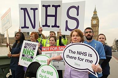 Pro NHS protesters